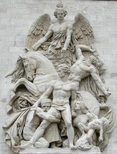 Sculpture on the Arc de Triomphe, Paris Carpeaux, Art Sculpture, Angels Among Us, Angel Statues, Michelangelo, Oeuvre D'art, Art History, Mythology, Sculpting