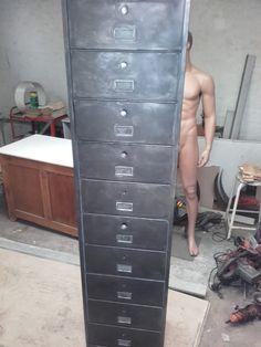 restaurarer un casier à clapet avec patine