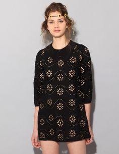 Daisy laser cut dress from Pixie Market
