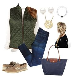 """""""Olive green"""" by sjkish on Polyvore featuring URBAN ZEN, Rafaella, rag & bone, Sperry Top-Sider, Tiffany & Co., Everest and Longchamp"""
