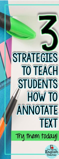 Strategies for Teaching Text Annotation Three strategies to implement in your classroom when teaching students how to annotate text. Ideal for middle school and high school students, these strategies will help build confidence. Student Teaching, Teaching Reading, Teaching Kids, Teaching Tools, Teaching Themes, Annotating Text, Student Exchange Program, School Essay, Middle School Reading