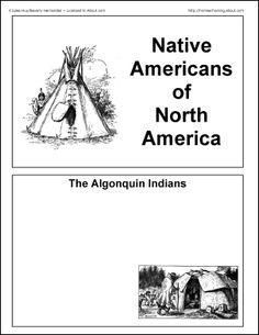 Native Americans of North America Free Printables | Words, Print ...