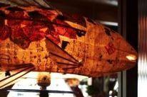 Another exquisite Elaine Hanowell Fish Lamp,Dahlia Lounge - Seattle, http://artxchange.org/artist_detail.php?ArtistCode=HAN
