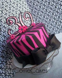 zebra/glam 30th birthday - Cake by Corrie