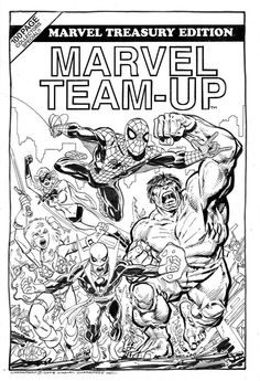 Imaginary Marvel Team-Up cover commission by John Byrne. Comic Book Artists, Comic Artist, Comic Books Art, Vintage Comic Books, Vintage Comics, Marvel Universe Characters, Comic Art Fans, Comic Pictures, Comic Pics