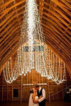 elegant wedding string lights backdrop