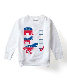 Look what I found on #zulily! White Political Checklist Fleece Sweatshirt - Toddler & Kids #zulilyfinds
