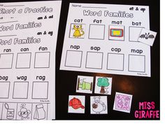 Miss Giraffe's Class: Short A Activities and Resources (including freebies!)