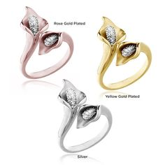 0.10 Carat Total Weight Genuine White Diamond Calla Lily Ring in Sterling Silver, http://www.favbuy.com/product/ephwswa-0_10_Carat_Total_Weight_Genuine_White_Diamond_Calla_Lily_Ring_in_Sterling_Silver
