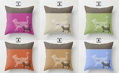 Decorative Pillow or pillow cover . Cat Pillow. Handmade by Narais