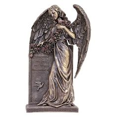 Sorrowful Bronzed Angel, 10 inch   The Catholic Company Be thou faithful unto death, and I will give thee a crown of life