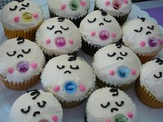 Pretty Baby Shower Cupcakes