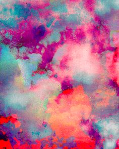art, clouds, color, tie dye, abstract