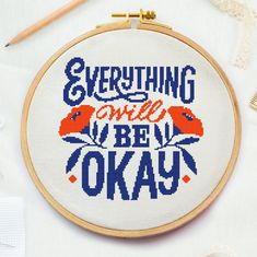 Excited to share this item from my shop: Okay inspirational sign cross stitch pattern, motivation simple modern cool cross stitch, positive funny quote, home modern cross Funny Cross Stitch Patterns, Cross Stitch Designs, Counted Cross Stitch Patterns, Cross Stitch Embroidery, Simple Cross Stitch, Cross Stitch Free, Cross Stitch Geometric, Etsy Embroidery, Cross Stitch Quotes