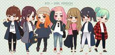 BTS - GIRL VERSION | OMG Rapmonster is fabulous!
