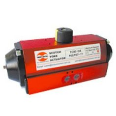Torque Control Pneumatic Actuators are available in both Double & Single Acting Models with an output torque ranging from 30 Nm to 4000 Nm at 6 Bar (600 kPa) operating pressure. They are suitable for a maximum operating pressure of 10 Bar (1000 kPa) operation.