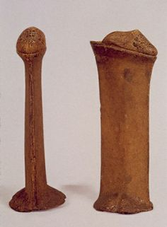 These are chopine from Italy. They were in use primarily in Venice from the 16th-18th centuries. This pair would've been used for wading through tall flood waters.