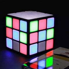 Disco Cube Portable Bluetooth Speaker Delivers Charming Lighting Effects When Playing Music