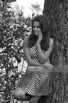 News Photo : Italian actress Claudia Cardinale posing leaning...