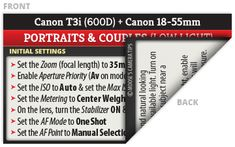Canon Rebel T3i (EOS 600D) Cheat Sheet