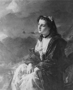 Flora MacDonald Alexander Johnston (1815-91) (artist) 1869    This is a romanticised portrait of the Jacobite heroine who had helped the Young Pretender, Bonnie Prince Charlie, to escape from the Highlands after his defeat at the battle of Culloden in 1745. Over her dress she is wearing a plaid of Macdonell of Glengarry tartan. She was caught and imprisoned, then in 1774 emigrated to North Carolina