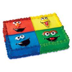 Sesame Street Faces Cake Kit Toppers Decoration Birthday Big Bird Elmo Cookie   eBay