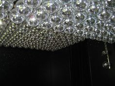 close-up of Paris hotel disco ceiling - oh yes! Mirror Ball, Paris Hotels, Disco Ball, Inventions, Architecture Design, Chandelier, Ceiling Lights, Blog, Home Decor