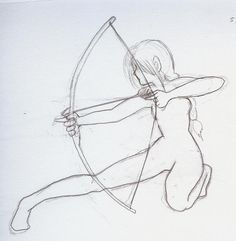 archery girl by lilyoftheflames manga anime traditional media drawings ...