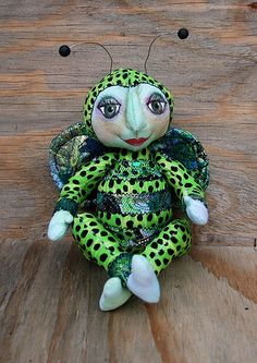 cloth doll, beetle, made for Christmas gift swap. created fabric, handpainted face    Obtain cash back on  all you  Xmas  purchasing. This is not some small rewards program.  Obtain {real  genuine 