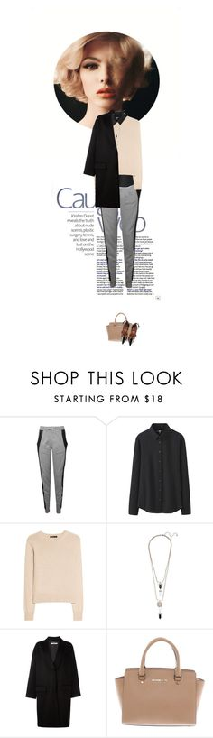 """""""Sweat Pants ."""" by doris-knezevic ❤ liked on Polyvore featuring Lot78, Uniqlo, MANGO, Givenchy, Michael Kors and RED Valentino"""