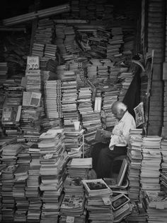 surrounded with books