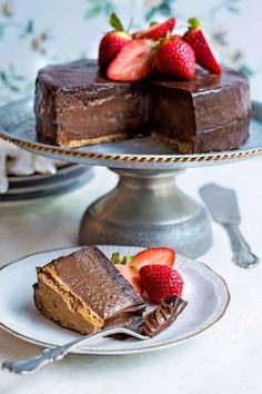 Lyxigt hög cheesecake med mycket smak av Nutella.