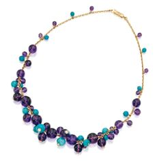 18 Karat Gold, Amethyst, Turquoise and Diamond 'Délices de Goa' Necklace, Cartier, France   Lot   Sotheby's