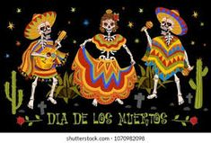 Image Ad Mexican Folk Art, Culture, Christmas Ornaments, Holiday Decor, Image, Poster, Day Of The Dead, Death, Christmas Jewelry