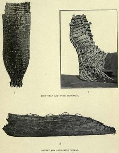 Woven Moccasin, fish trap and basket
