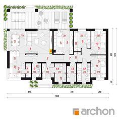 Projekt domu Dom pod pinią 2 - ARCHON+ Prefab Homes, Traditional House, Architecture Design, House Plans, Pergola, Floor Plans, How To Plan, Home Plans, Home Layouts