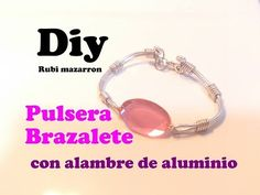 Diy. Pulsera de alambre con brillante - YouTube