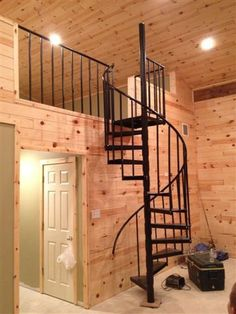 spiral staircase pole barn home