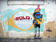 sao paulo street art   ... sao paulo s urban jungle with his street art inspired by the