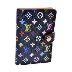 Pre-Owned Authentic Louis Vuitton Monogram Multicolor Agenda Black... ($245) ❤ liked on Polyvore featuring bags, black, pre owned bags, preowned bags, louis vuitton, multicolor bag and colorful bags