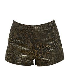 Go for gold in these baroque inspired jacquard gold leaf shorts by Parisian. £17.99  at New Look