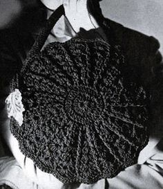 Cordet Bag No. 4818 - free crochet pattern from Handbags, originally published by Jack Frost Yarn Company, Volume No. 48, from 1945.
