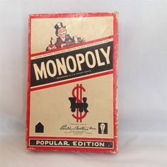 1954 MONOPOLY POPULAR EDITION WOOD DICE GAME PIECES HOTELS HOUSES #MiltonBradley