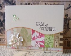 Life is beautiful by Jacqueline.fr, via Flickr beautiful colors and love the curve..scraps