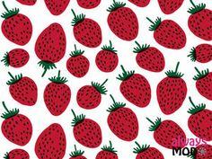 マリメッコ苺柄 かわいい壁紙【1600×1200】