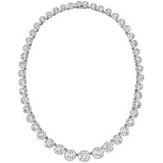 Tiffany & Co. Important Diamond Riviere Necklace | From a unique collection of vintage more necklaces at https://www.1stdibs.com/jewelry/necklaces/more-necklaces/