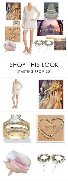 """""""Beach wedding"""" by jovanovic-ivana ❤ liked on Polyvore featuring GUESS and Palm Beach Jewelry"""