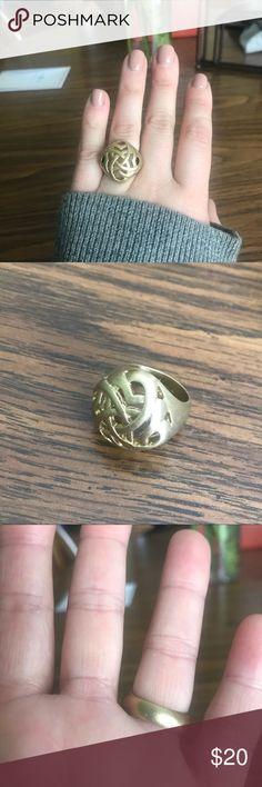 Lia Sophia Celtic knot ring Beautiful Lia Sophia ring. Never been worn. Very sturdy. Size 6. Lia Sophia Jewelry Rings