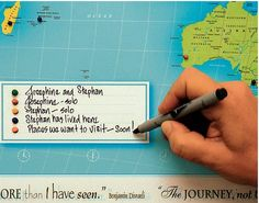 Personalised Framed Push Pin Map from notonthehighstreet.com
