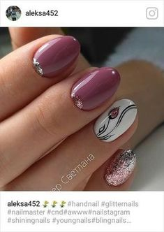 Ideas nails sencillas gelish for 2019 Tulip Nails, Flower Nails, Fancy Nails, Trendy Nails, Gel Nail Designs, Nails Design, Nagel Gel, Nail Decorations, Beautiful Nail Art